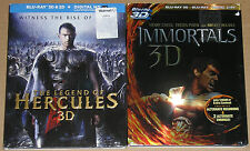 Action Blu-ray 3D Lot - Immortals 3D (Used) The Legend of Hercules 3D (Used)