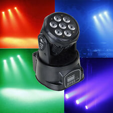 RGBW 105W 7 LED Moving Head Light DMX DJ XMAS Club Party Stage Lighting US Plug