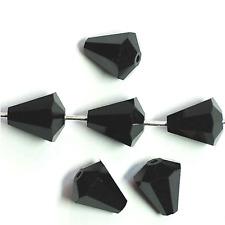 Swarovski Elements  Perlen Tropfen 9x8 mm schwarz 1x