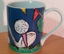 "Save the Children Ceramic Coffee Mug Cup by Brett Age 10 ""Fore"" Golf Clubs Balls"