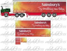 1/76 trailer code 3 decals,transfer,for stobart truck trailer/Oxford,Sainsbury's