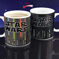 Star Wars Lightsaber Design Temperature Color Change Ceramic Cup Mug Gift New