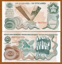 Yugoslavia, 2,000,000 (2000000) Dinara, 1989, Pick 100,  UNC