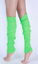 Womens Winter Crochet Knit High Knee Leg Warmers Slouch Boot Socks Candy Color
