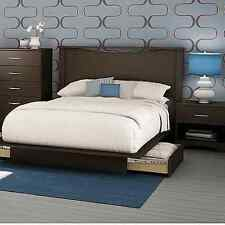 Full Queen Storage Platform Bed 4 Piece Bedroom Set Headboard Chest Nightstand