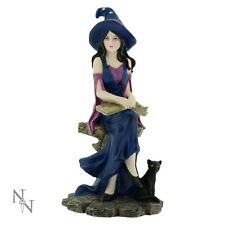 NEMESIS NOW *SELENE* WITCH/GOTHIC FAIRY & BLACK CAT ORNAMENT/FIGURE NEW & BOXED