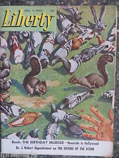 Liberty Magazine  December 1, 1945  *Mat Kauten Cover*  GREAT ADS