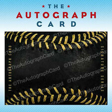 The Autograph Card Blank Signature cards BLACK BASEBALL 25 for collecting autos