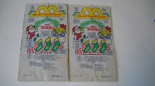 Cabbage Patch Kids & Tonka 1992 McDonalds Happy Meal Bags (2 of same bag)