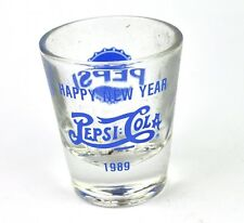 Pepsi Cola USA Glas Stamper Stamperl Schnapsglas shot glass Happy New Year 1989