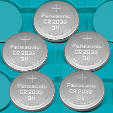 5 NEW PANASONIC CR2032 ECR 2032 3v Lithium Batteries Exp.2024 CR 2032