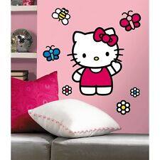 New GIANT WORLD OF HELLO KITTY WALL DECALS Girls Bedroom Stickers Decorations