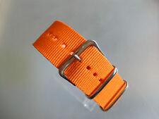 Uhrenarmband Nylon 24 mm orange NATOBAND Dornschließe Textil
