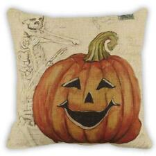 Halloween Pumpkin Square Pillow Cover Cushion Case Pillowcase Zipper Closure