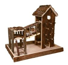 61642 TRIXIE SYRIAN HAMSTER MOUSE BIRGER HOUSE HIDE NATURAL WOOD PLAYGROUND RUN