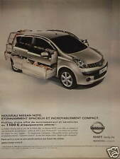 PUBLICITÉ 2007 NISSAN NOTE ÉTONAMMENT SPACIEUX SHIFT FAMILY LIFE - ADVERTISING