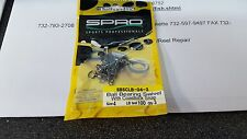 1 Pack SPRO SBSCLB Ball Bearing Swivel w/Coastlock Snap 100#Test Size 4 3 Pieces
