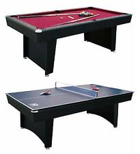 "MD Sports 84"" Billiard Table and Table Tennis Top Recreation Room Combination"