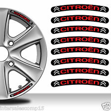 8 Citroen Autocollants Stickers Auto Voiture Jante Roue Liseret Wheel Sport C28