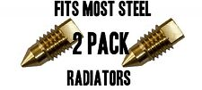 Radiator BLEED SCREW AIR / VALVE VENT FITS MOST STEEL RADIATORS BRASS 2 PACK