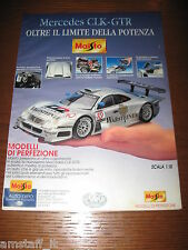 *AH20=MAISTO GIG MERCEDES CLK-GTR=PUBBLICITA'=ADVERTISING=WERBUNG=COUPURE=