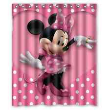 Disney Cartoon Minnie Mouse Polyester Waterproof Bath Shower Curtain 60 x 72