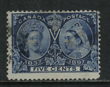 Canada 1897 Queen Victoria Jubilee 5c deep blue--Attractive Topical (54) used