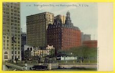 Postcard BOWLING GREEN BUILDING and WASHINGTON BUILDING NEW YORK CITY