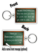 Personalised Teacher Keyring /Bag Tag *Thank You Gift for Teachers*