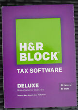 H&R Block Deluxe Software Homeowners Investors 2014 State Federal Tax New Sealed