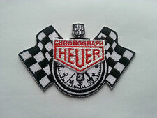 MOTORSPORTS RACING SEW ON / IRON ON PATCH:- CHRONOGRAPH HEUER (b) CHECK FLAGS