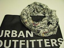 NWT AUTHENTIC Urban Outfitters Pins and Needles Unique Scarf  White / Black