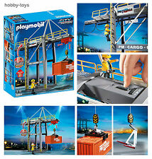 PLAYMOBIL * Cargo Loading Terminal Crane 5254 For Airport / Docks / Train * NEW