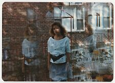 Vintage 80s PHOTO Young Woman Girl w/ Ghost Images