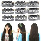 40 PCS 32mm Black U Shape Snap Metal Clips for Hair Extensions Weft Clip-on Wig