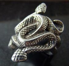 Natural Born Killers snake ring silver plated size 5,6,7,8,9,9.5,10,11,12,13
