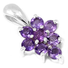 Amethyst 925 Sterling Silver Pendant Jewelry P1254A