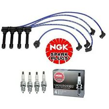 NGK HE62 High Performance Spark Plug Wire Set & 4-Pieces NGK ZFR5F11 Spark Plugs