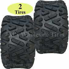 TWO 25x12.00-10 25x12-10 25/12-10 Golf Cart Go Kart ATV TIRE Barrage 6ply DOT