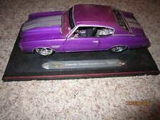 Maisto Pro Rodz 1:18 Scale 1971 Chevrolet Chevelle SS Diecast-Purple-Mounted