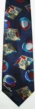 Deep Blue Abstract Oscar de la Renta Studio Tie - Designer Necktie