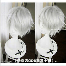 Women/Men Unisex Short Straight Hair Wig okyo Ghoul Cosplay Wig Silver Grey Hair