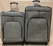 """LONDON FOG CAMBRIDGE HOUNDSTOOTH  Set 25"""" & 29"""" Exp SPINNER SUITCASES"""