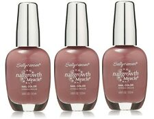 LOT OF 3 - SALLY HANSEN NAILGROWTH MIRACLE NAIL POLISH 270 GORGEOUS GRAPE