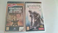 PACK 2 JUEGOS:BROTHERS IN ARMS D-DAY ASSASSIN´S CREED BLOODLINES PSP PAL ESPAÑA