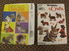 Lot of Vtg Unused 14 DOG COSTUMES Sewing Patterns Uncut Sizes XS to L All Cute!!