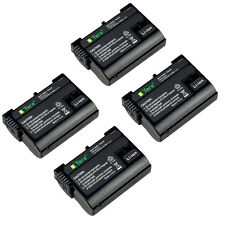 4X Tera EN-EL15 2350mAh Battery for Nikon D600 D610 D750 D7000 D800 V1 Camera