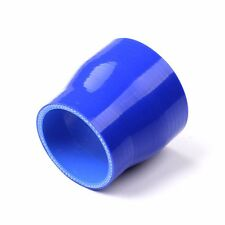 """2"""" to 2-1/4"""" 51mm-57mm Silicone Hose Straight reducer Radiator Pipe Blue"""