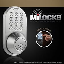 MiLocks DF-02SN Electronic Keyless Entry Touchpad Deadbolt Door Lock