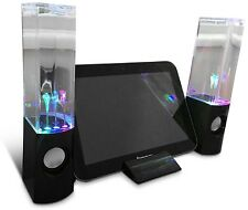 USB Powered Dancing Water Stereo Speakers PC Mac Macbook iMac Chromebook Tablet